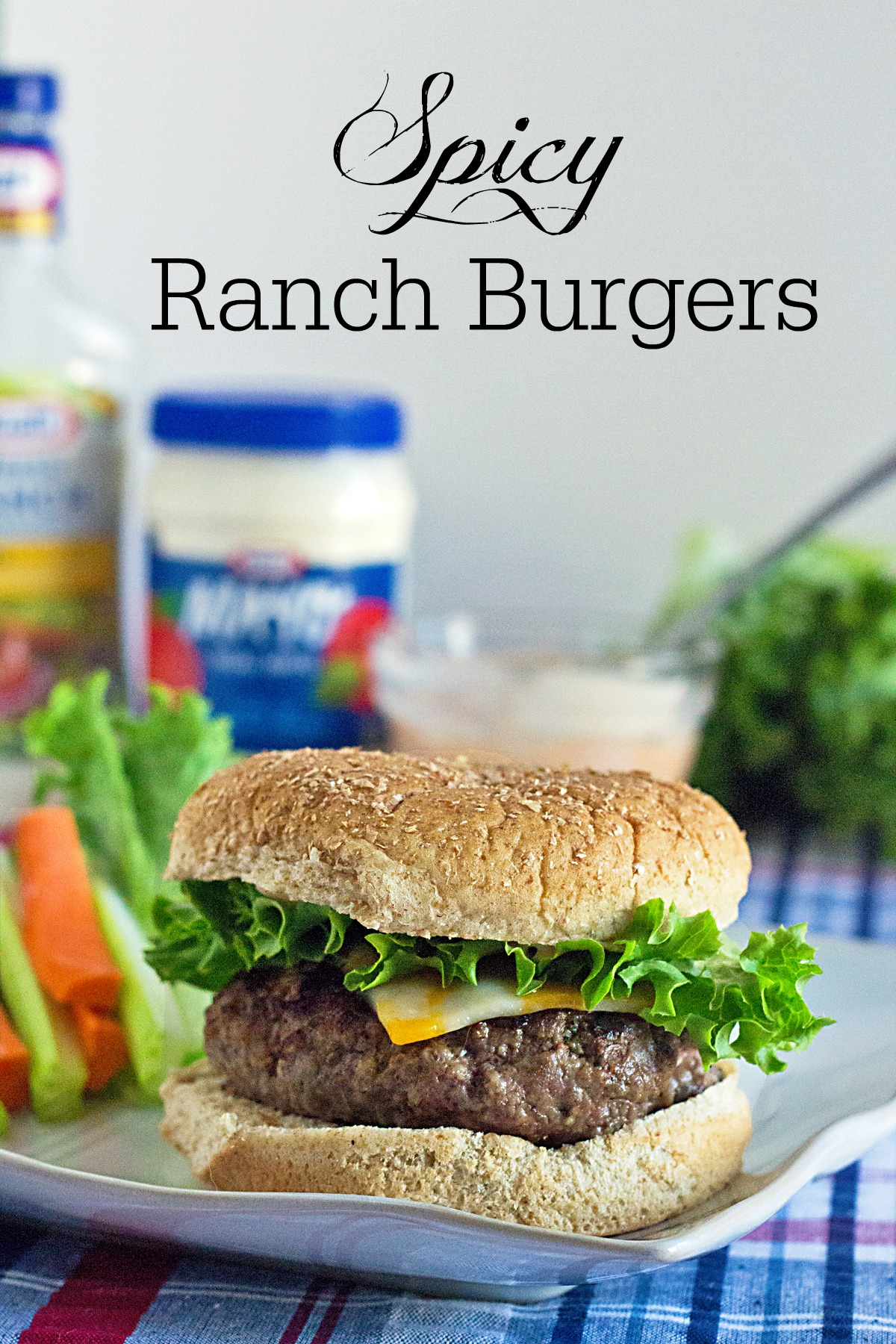 Spicy Ranch Burgers from ItsYummi.com #RollIntoSavings #shop