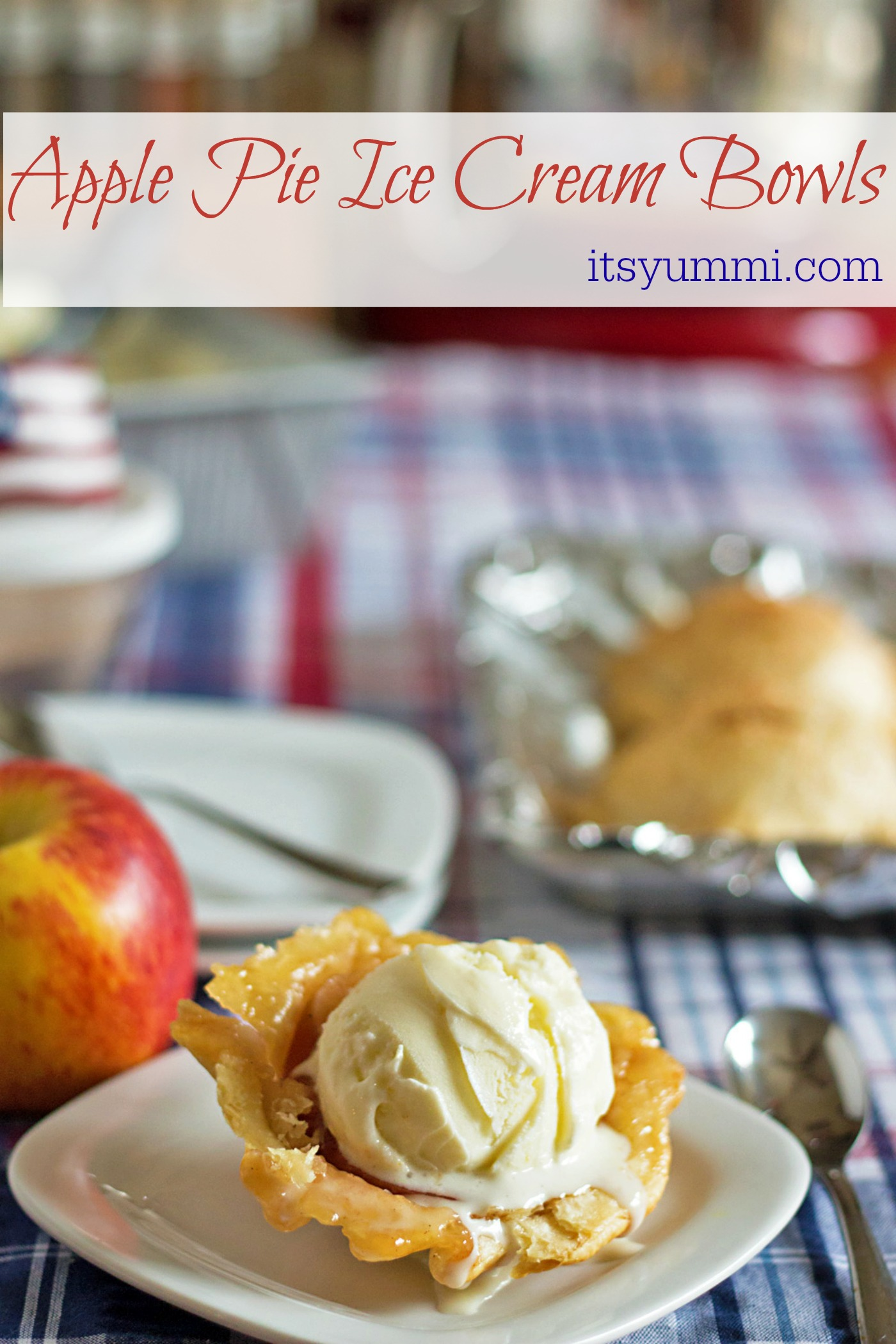 Apple Pie Ice Cream Bowls from ItsYummi.com