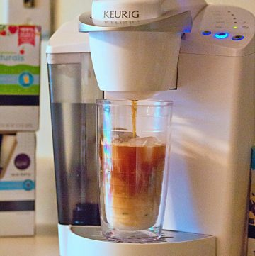 A Keurig coffee machine is my favorite way to make iced coffee and other brewed beverages over ice! #BrewItUp #BrewOverIce #shop