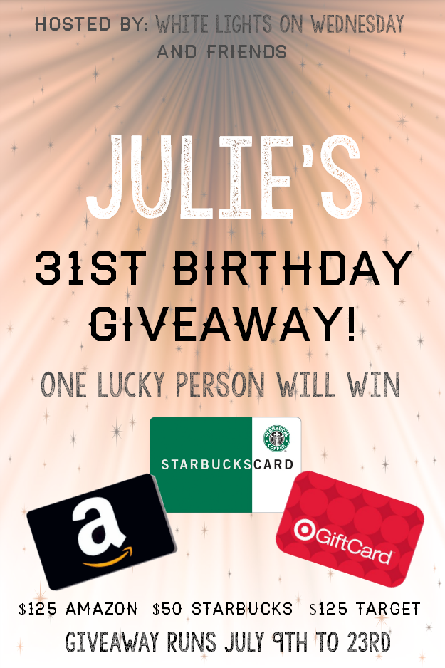 You can win $300 in gift cards in Julie's 31st birthday gift card giveaway!