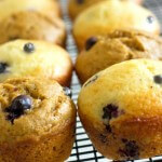 Blueberry Lime Protein Muffins Recipe from itsyummi.com