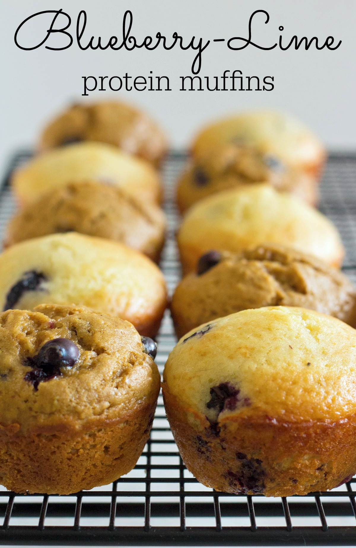 Blueberry Lime Protein Muffins Recipe