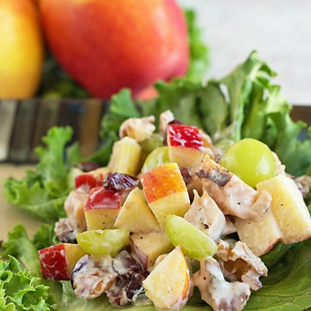I could eat this healthy chicken Waldorf salad recipe every day. It's THAT good!
