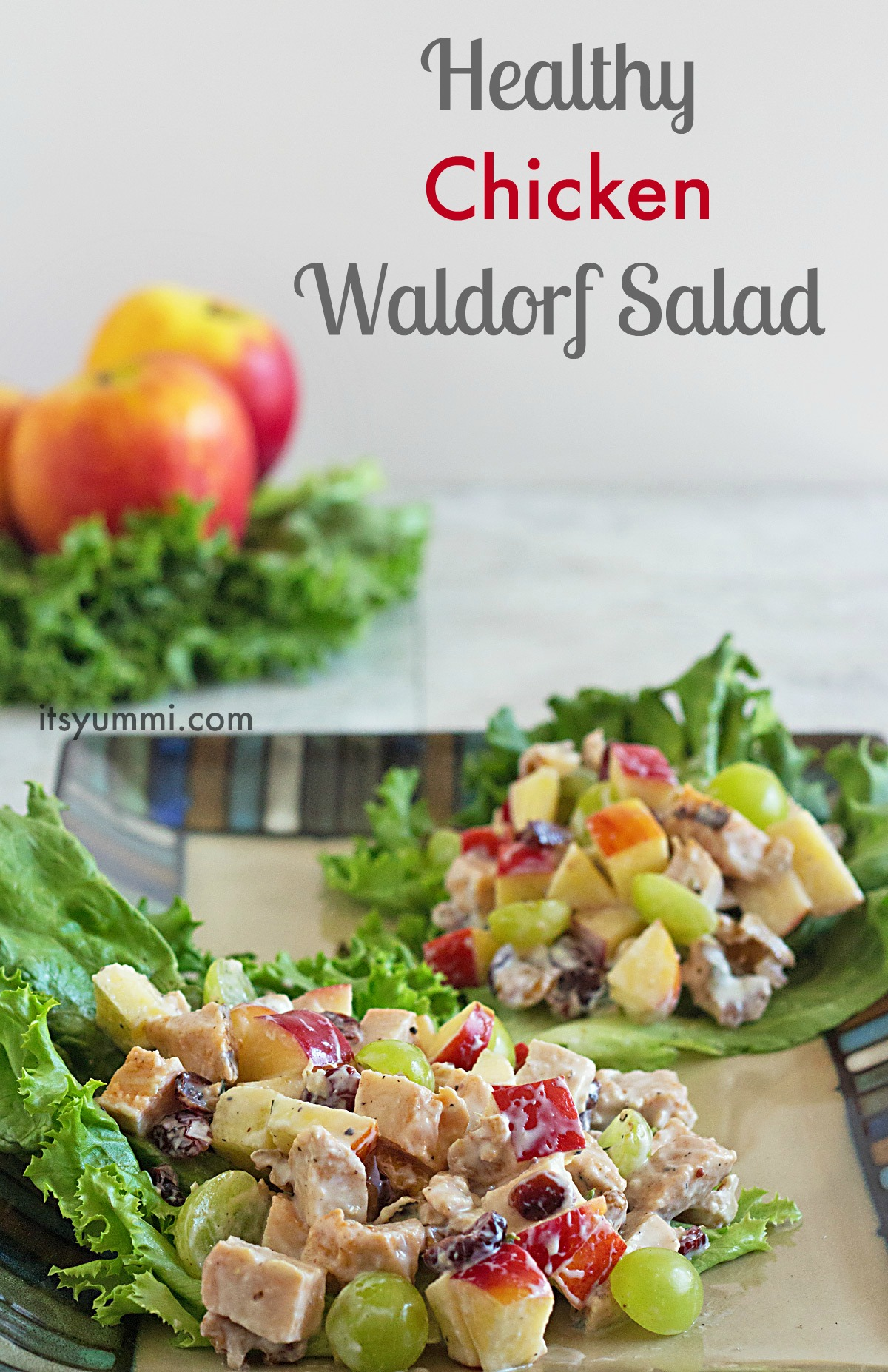 Healthy Chicken Waldorf Salad from ItsYummi.com!