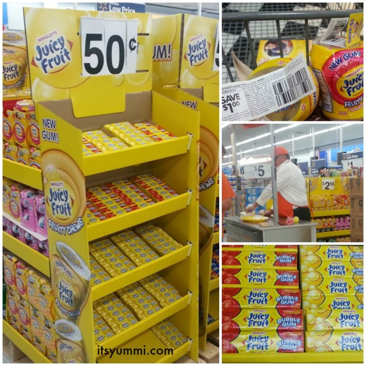 Display of Juicy Fruit Chewing Gum at Walmart #JuicyFruitFunSide #shop