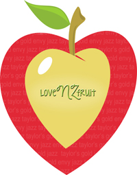 This is the official logo for the loveNZfruit promotion for the summer of 2014