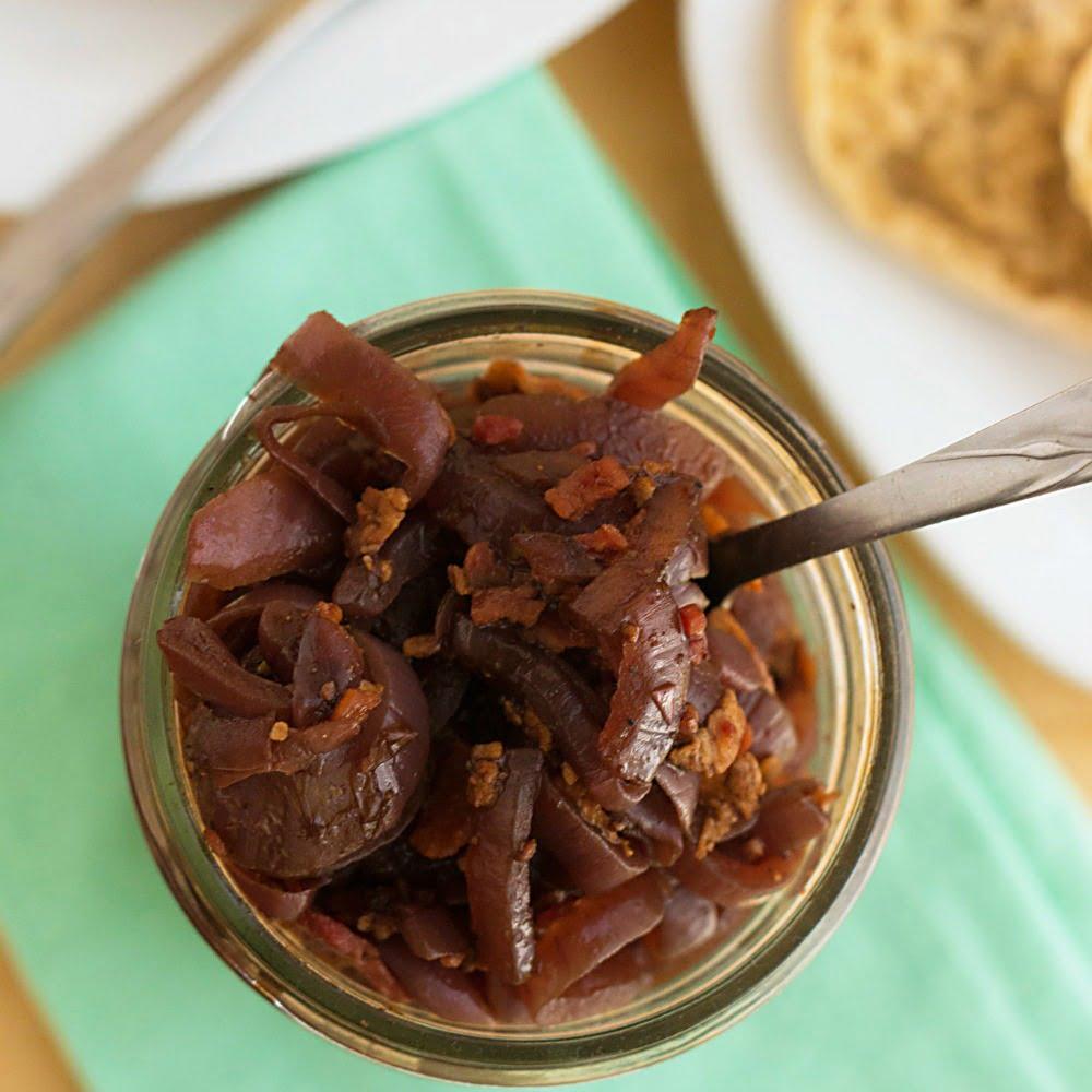 Balsamic Bacon Onion Relish Recipe