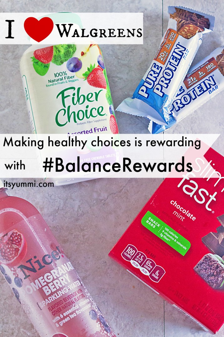 Earn rewards for making healthy choices and logging them with the Walgreens app! #BalanceRewards #shop