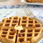 Candied Bacon Buttermilk Waffles - because every day deserves bacon! Recipe on ItsYummi.com