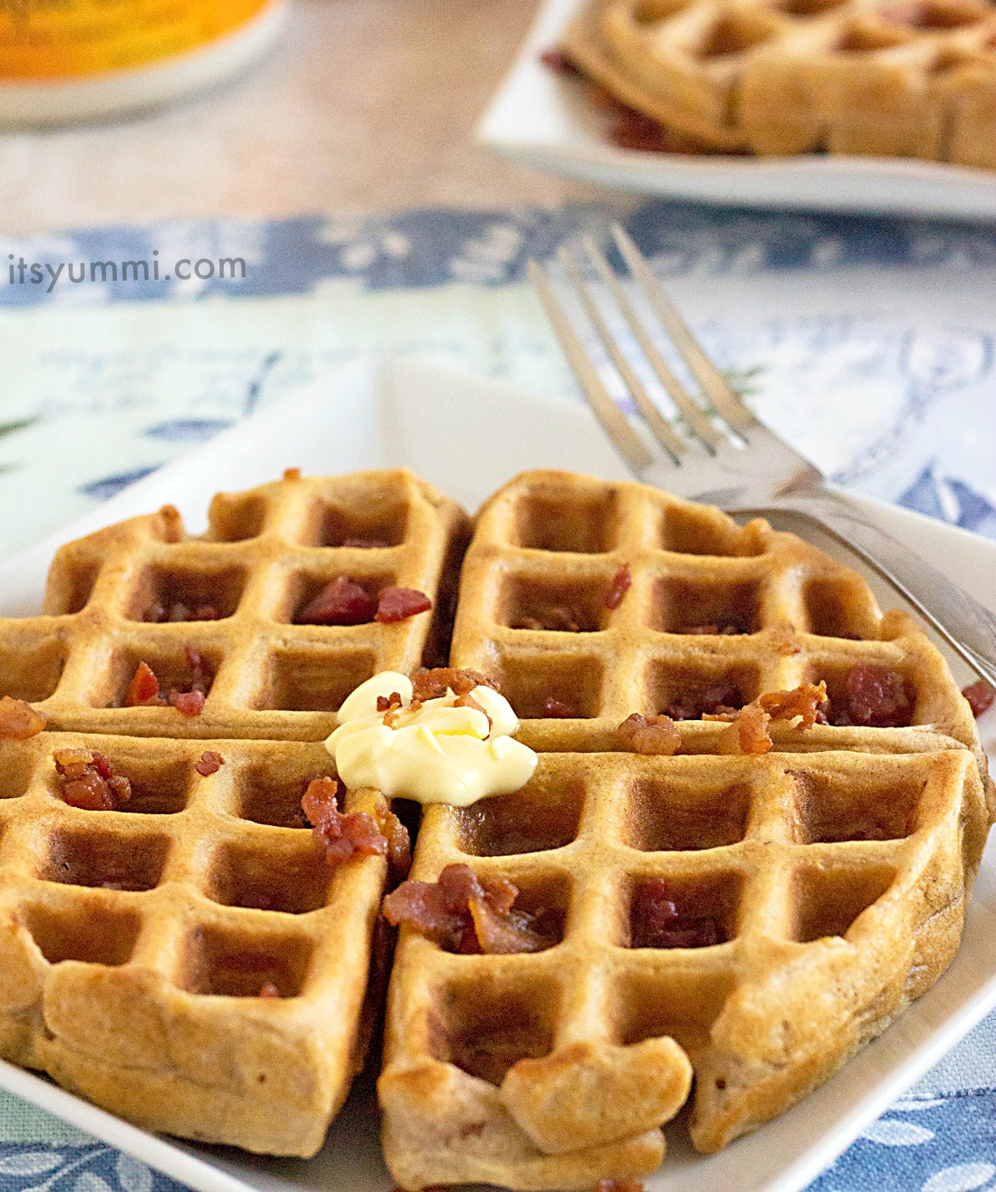 Candied Bacon Buttermilk Waffles