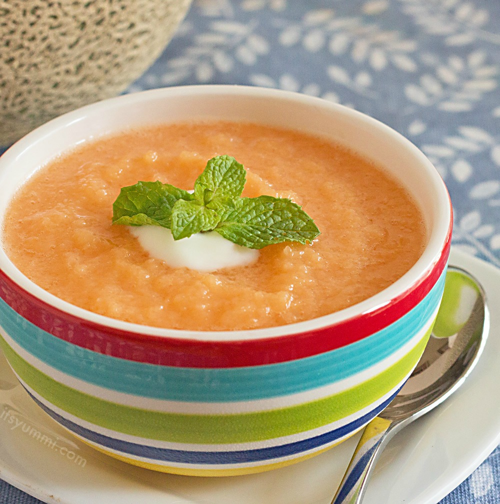 Chilled Cantaloupe Soup Recipe Summer Soup Series Its Yummi Or you can let the surprisingly versatile fruit really shine. chilled cantaloupe soup recipe summer soup series its yummi
