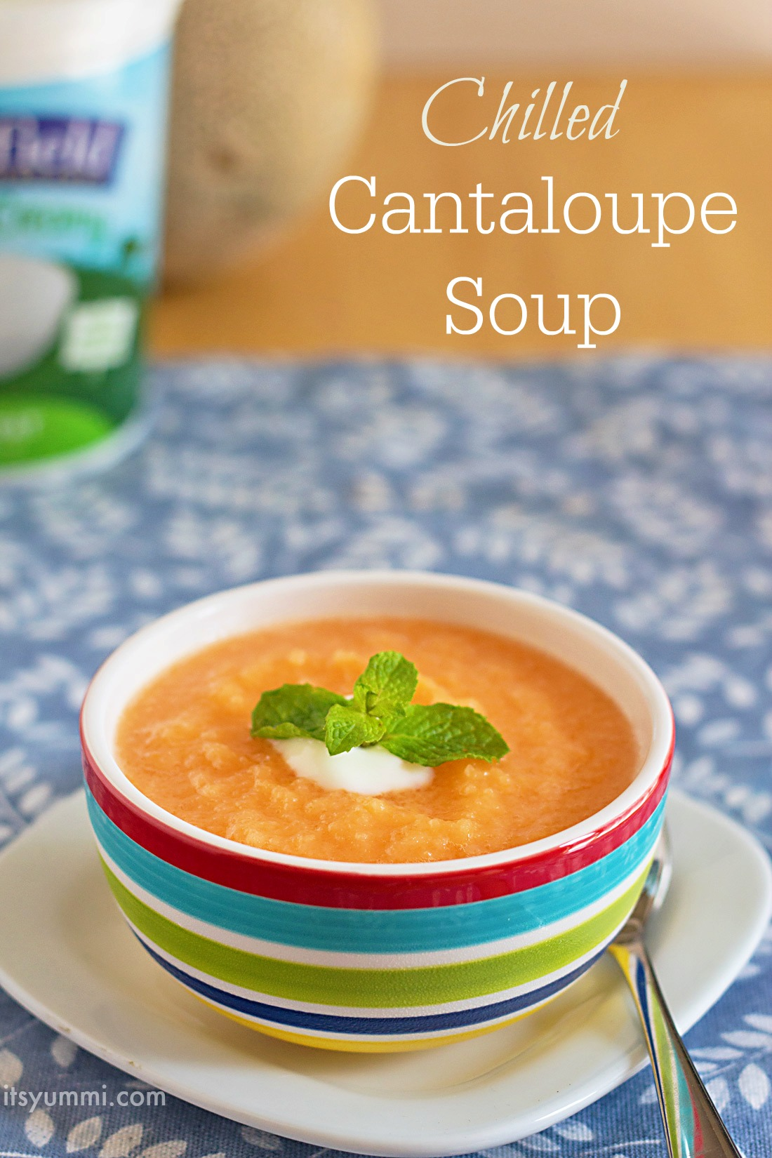 Chilled Cantaloupe Soup Recipe from ItsYummi.com