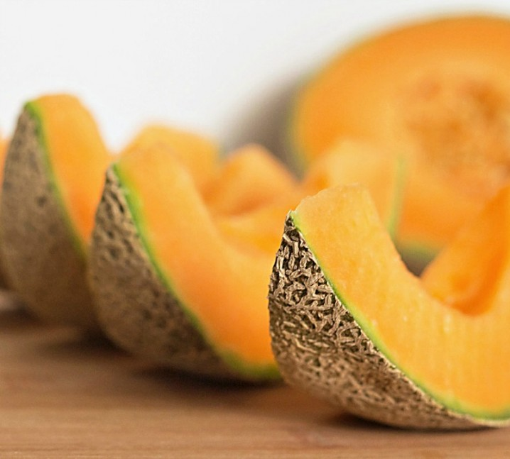 wedges of fresh cantaloupe for a Chilled Cantaloupe Soup recipe