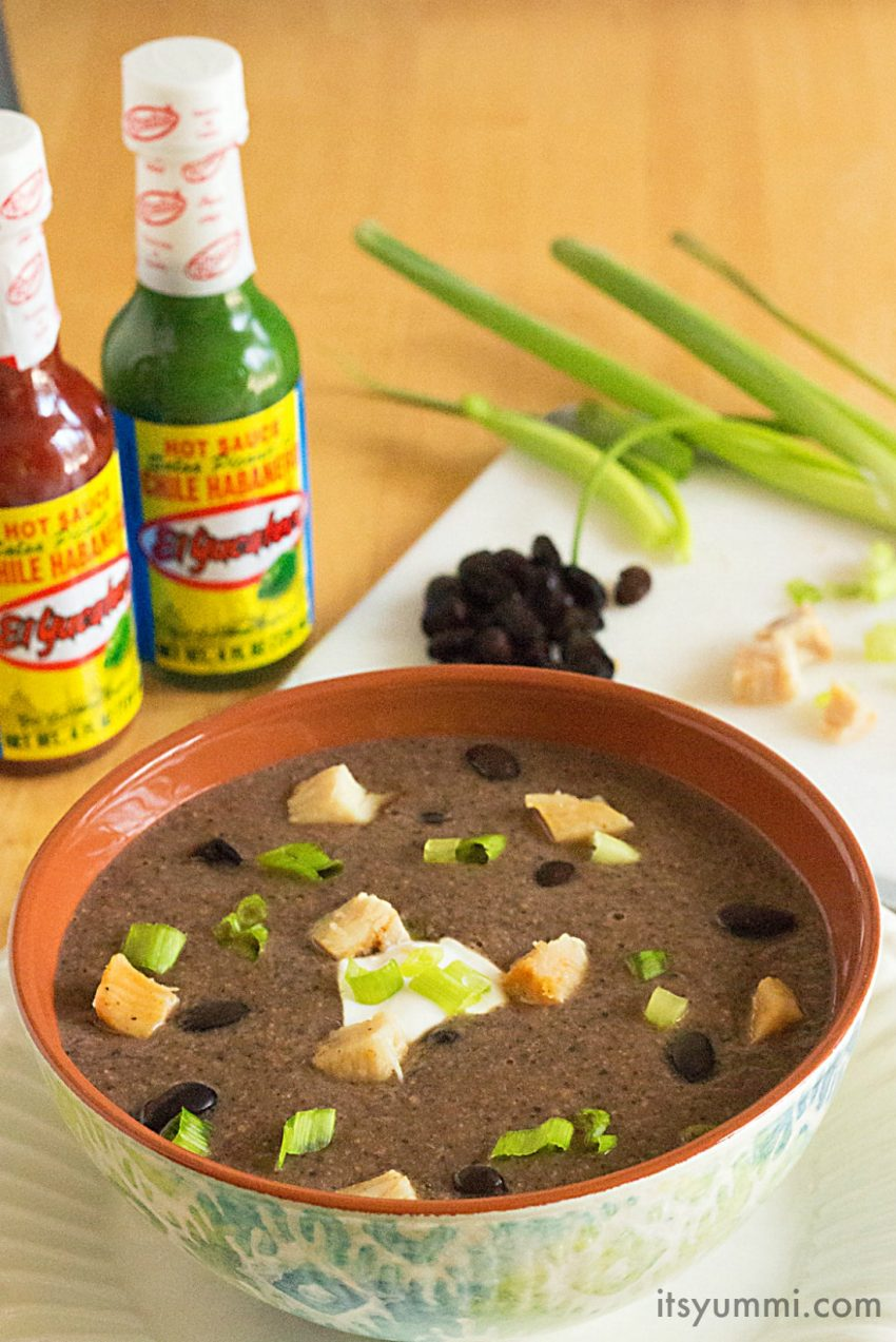 spicy chicken soup with black beans