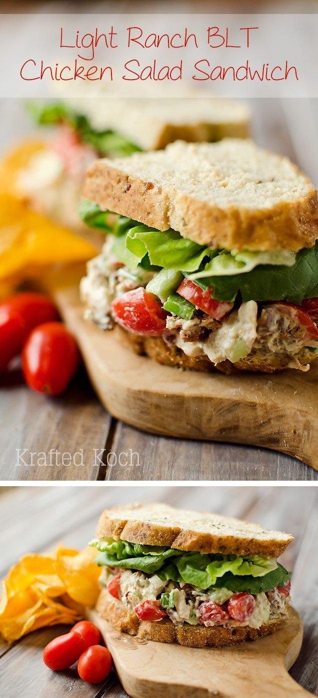 Light Ranch Chicken BLT Salad Sandwich Krafted Koch