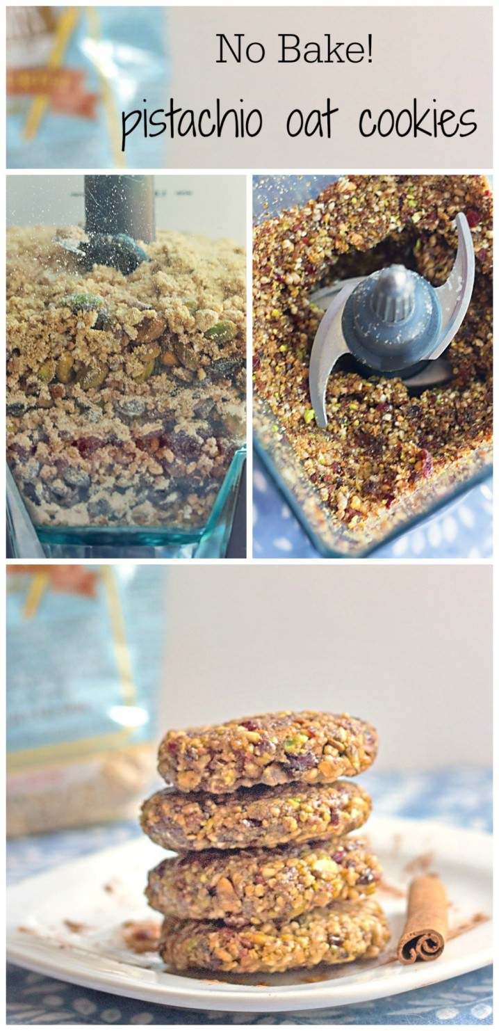 The perfect little healthy lunch box treat! No Bake Pistachio Oat Cookies from itsyummi.com - made with steel cut oats
