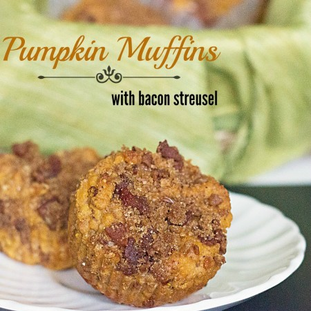 Pumpkin Bacon Streusel Muffins from @itsyummi for #baconmonth