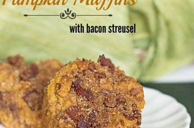 Pumpkin Bacon Streusel Muffins