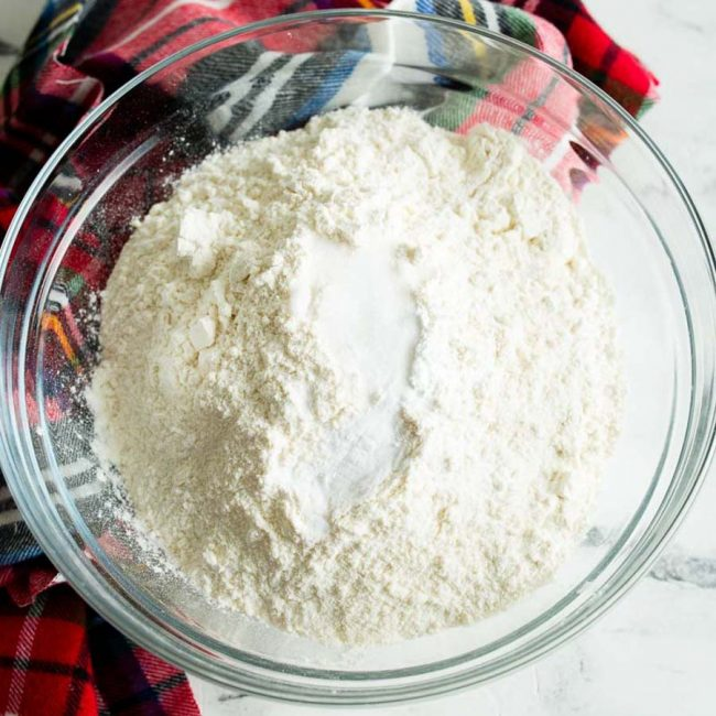 dry ingredients for pumpkin muffins in a bowl