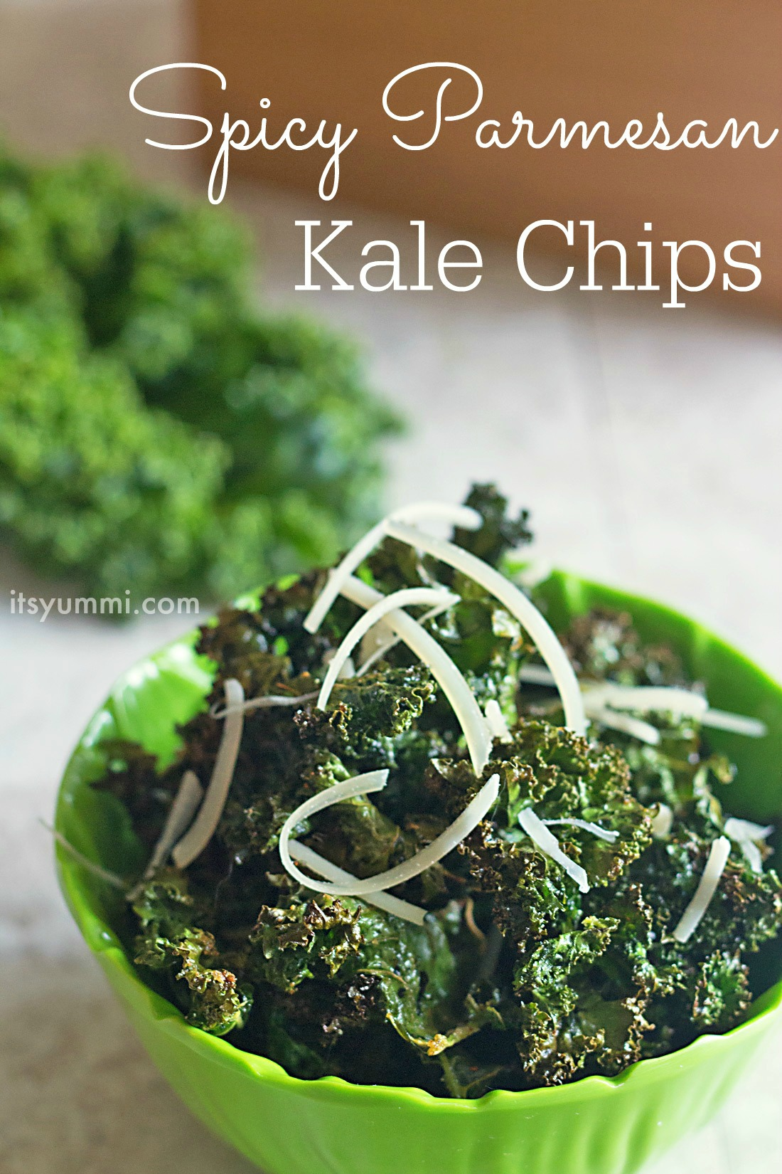 Spicy Parmesan Kale Chips from ItsYummi.com