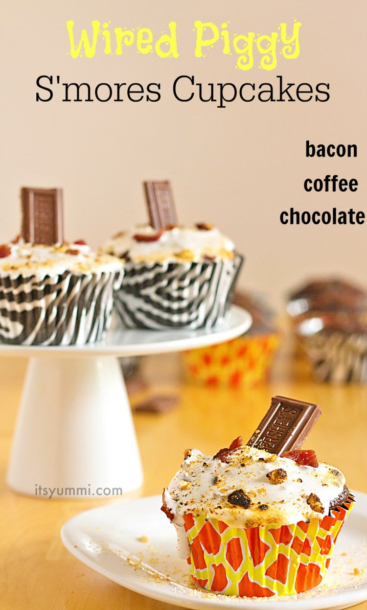 Caffeine Spiked S\'mores Cupcakes | Its Yummi