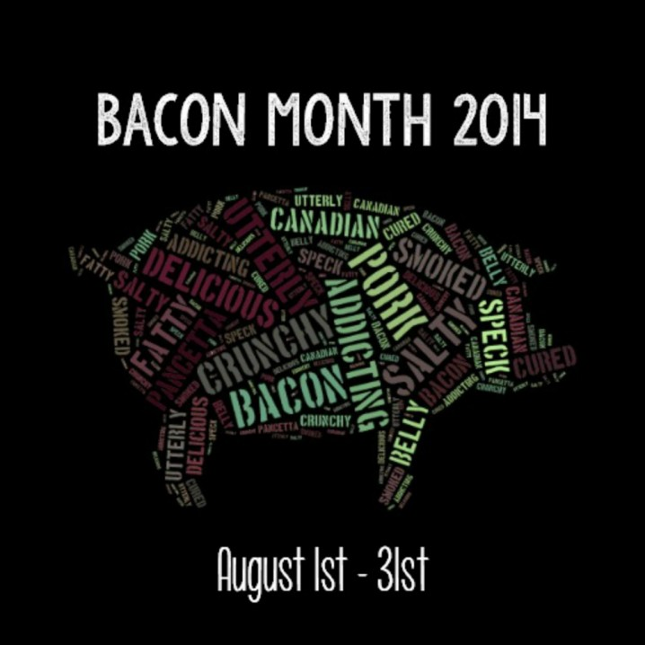 Celebrate Bacon Month 2014 - Get bacon filled recipes from some of the Internet's best food bloggers! #baconmonth #PutSomePigInIt