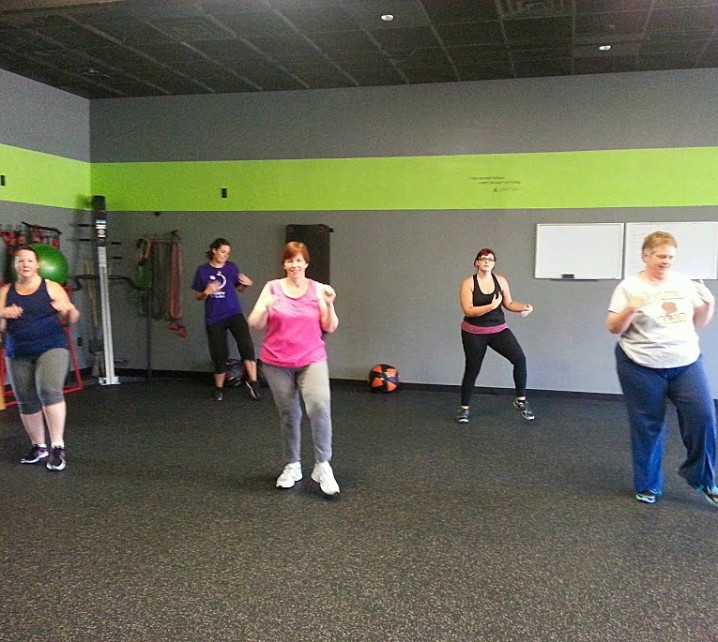Zumba class held at Push Group Fitness in Appleton Wisconsin