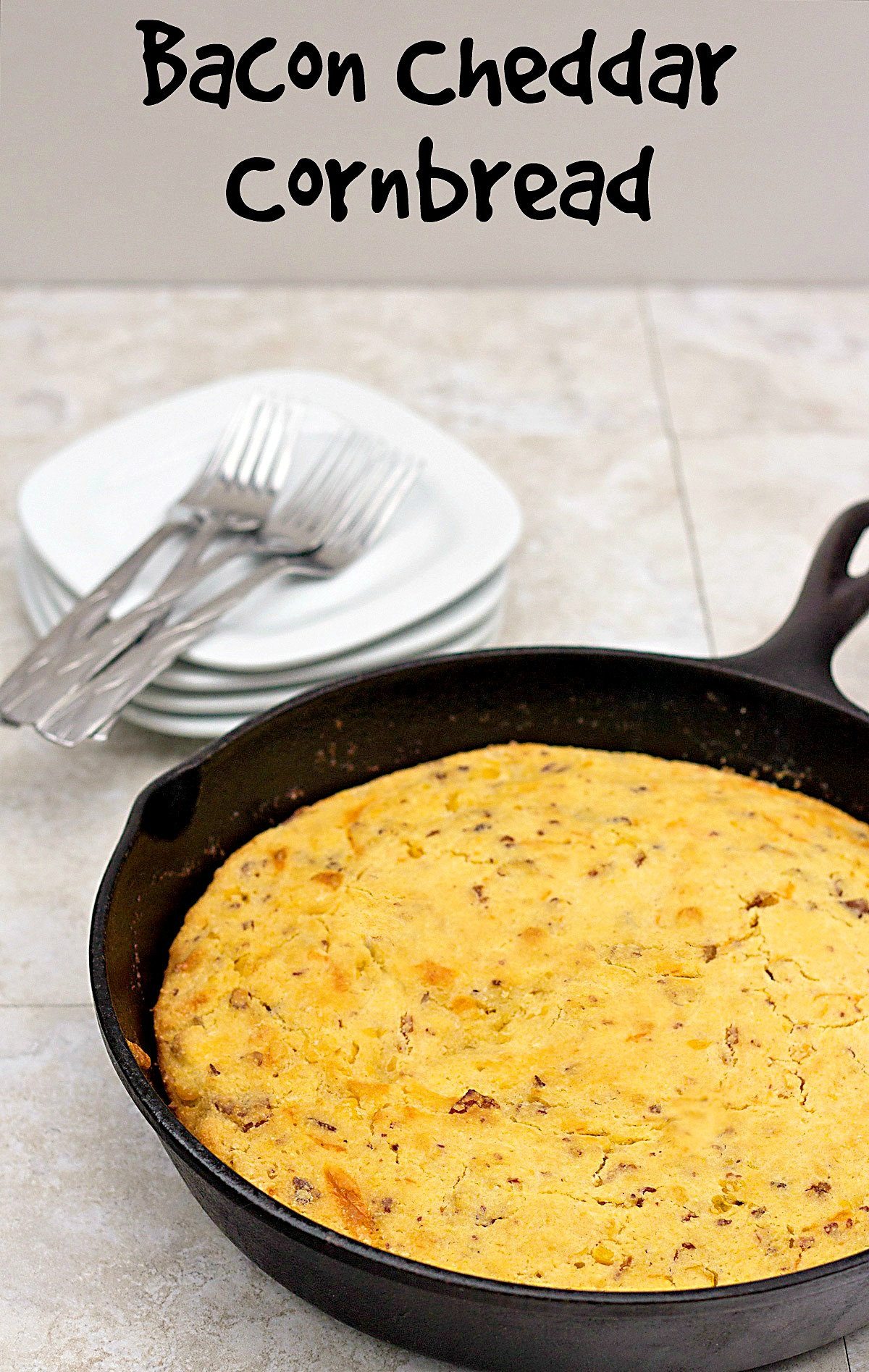 Bacon Cheddar Cornbread Recipe ⋆ Its Yummi