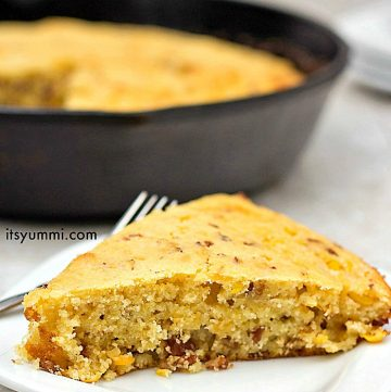 Bacon Cheddar Cornbread from ItsYummi.com