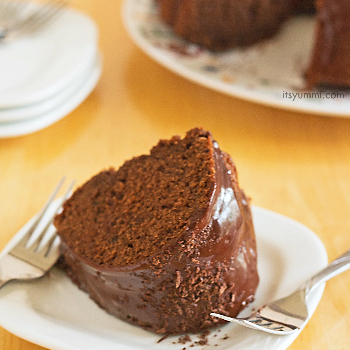Double Chocolate Bundt Cake Recipe, from ItsYummi.com