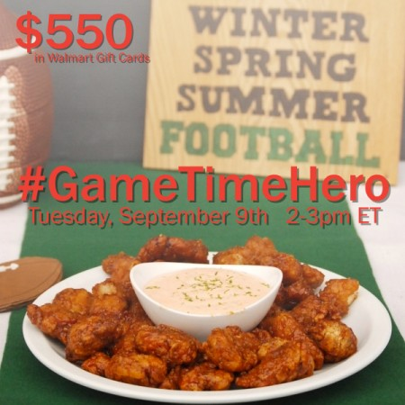 #Ad Celebrate Game Day at the #GameTimeHero Twitter Party on 9/9