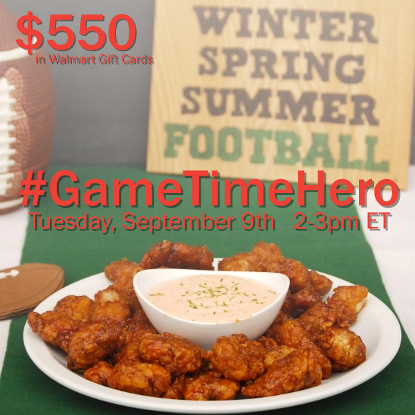 Ad: Join the Game Day #GameTimeHero Twitter Party on 9/9/14