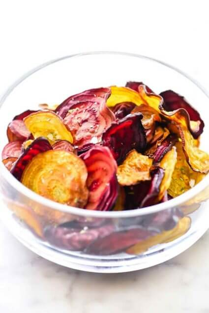 Homemade Baked Beet Chips