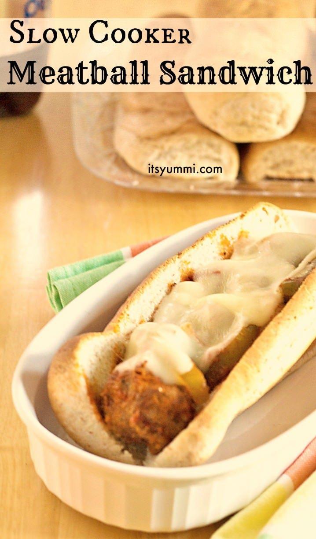Slow Cooker Meatball Sandwiches - #recipe from ItsYummi.com #shop #MyPicknSave