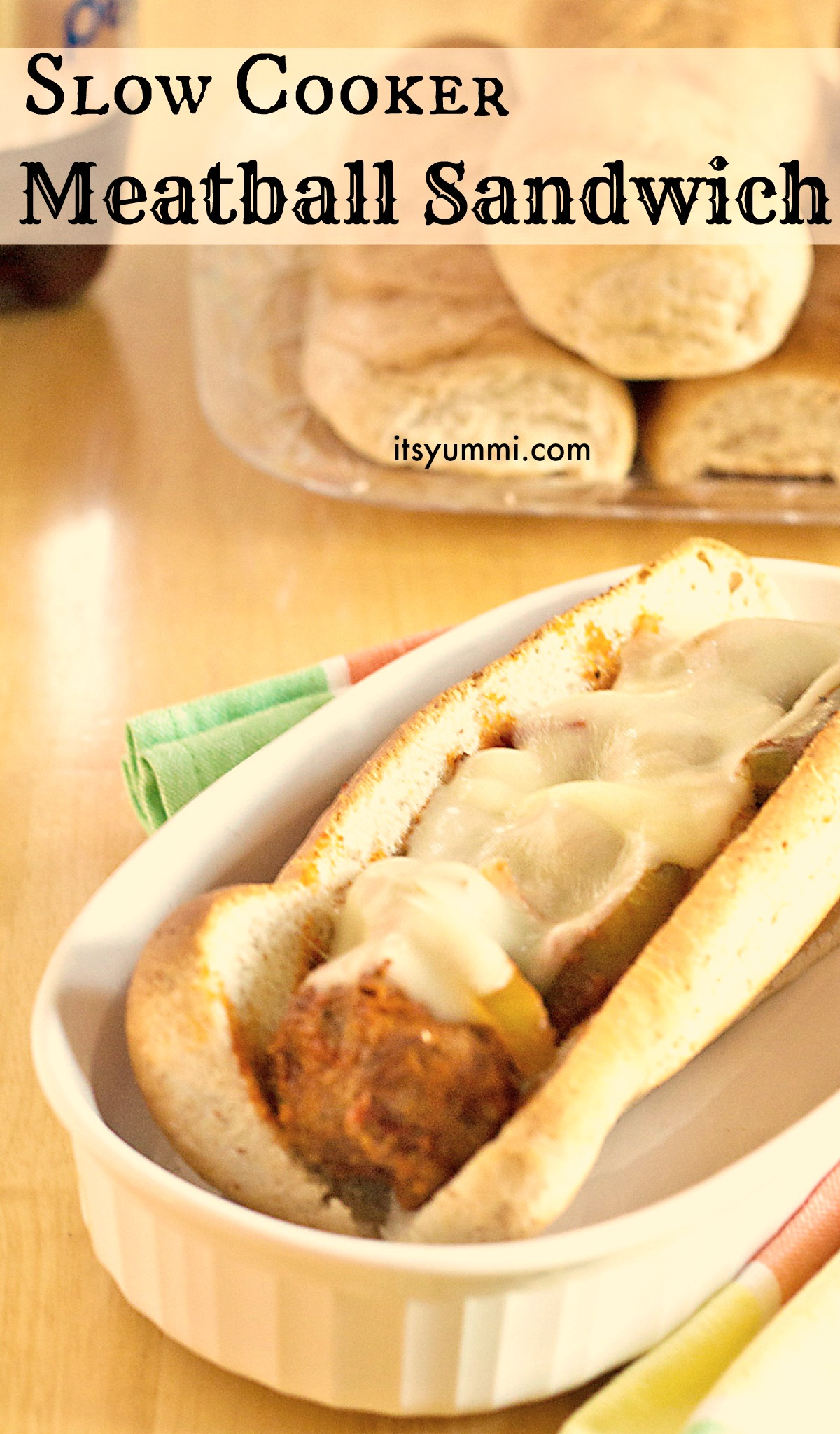 Slow Cooker Meatball Sandwiches Recipe from ItsYummi.com