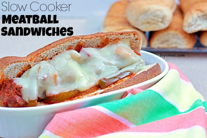 Slow Cooker Meatball Sandwiches Recipe, from ItsYummi.com
