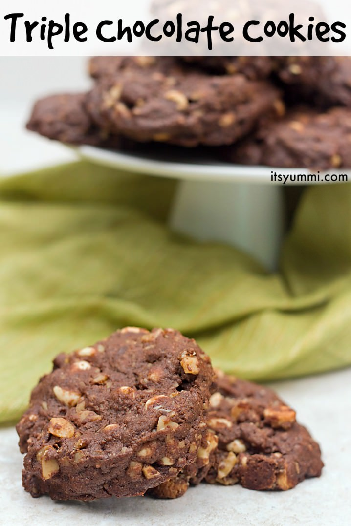 Triple chocolate cookies are my September contribution to the Creative ...