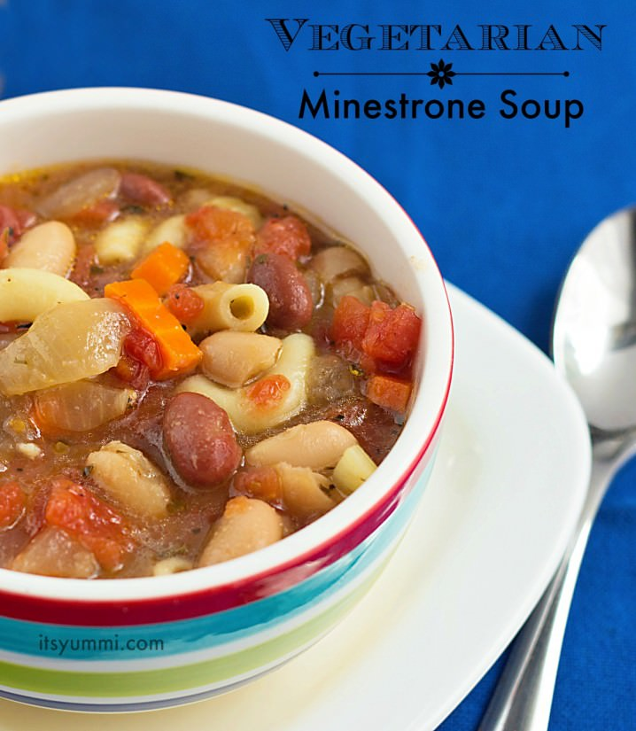 Easy Vegetarian Minestrone Soup Recipe from ItsYummi.com