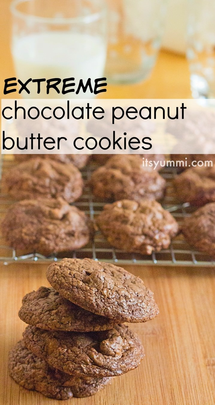 titled photo (and shown): Extreme chocolate peanut butter cookies
