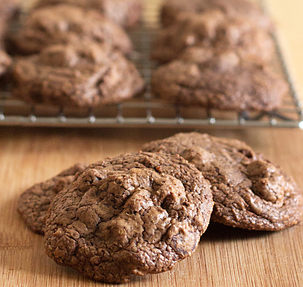 Extreme Chocolate Peanut Butter Cookies (w/ low carb option)