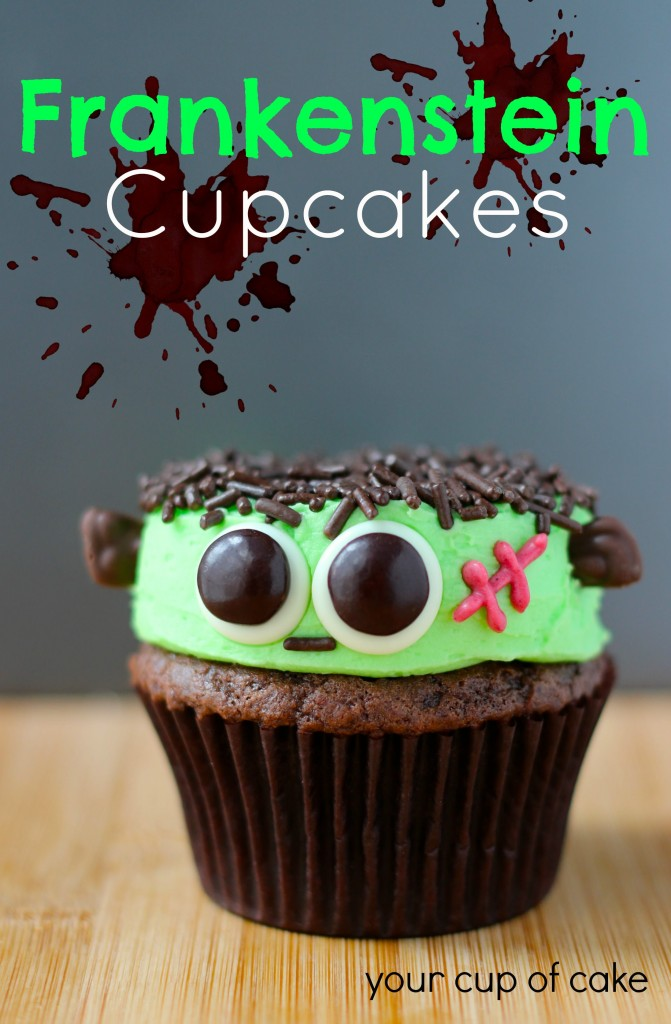 15 Fun Food Creations for Halloween, including this Frankenstein Cupcakes recipe from Your Cup of Cake - find them all on ItsYummi.com