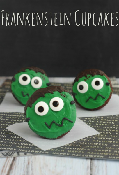 15 Fun Food Creations for Halloween, including Frankenstein Cupcakes from Moments with Mandi - find them all on ItsYummi.com