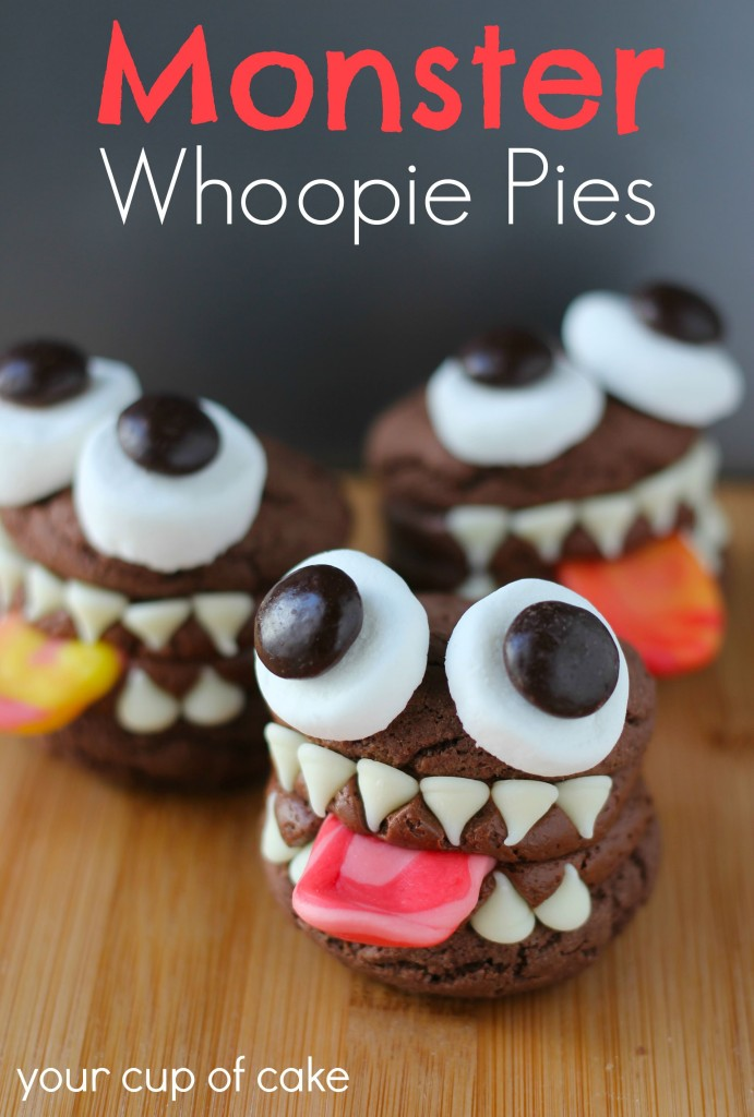 15 Fun Food Creations for Halloween, including Monster Whoopie Pies from Your Cup of Cake - find them all on ItsYummi.com