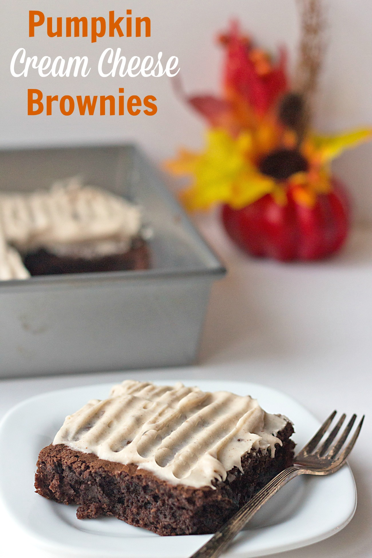 Pumpkin Cream Cheese Brownies Recipe- from ItsYummi.com