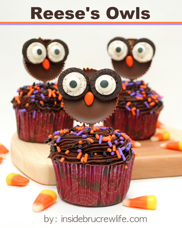 15 Fun Food Creations for Halloween, including Reese's Owls from Inside Bru Crew Life - find them all on ItsYummi.com