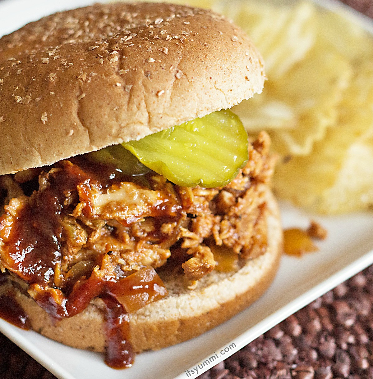 Slow Cooker Pulled Chicken Recipe {Giveaway}