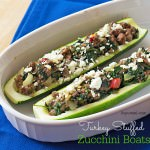 Even kids love these turkey stuffed zucchini boats - Healthy IS delicious! Get the recipe on ItsYummi.com