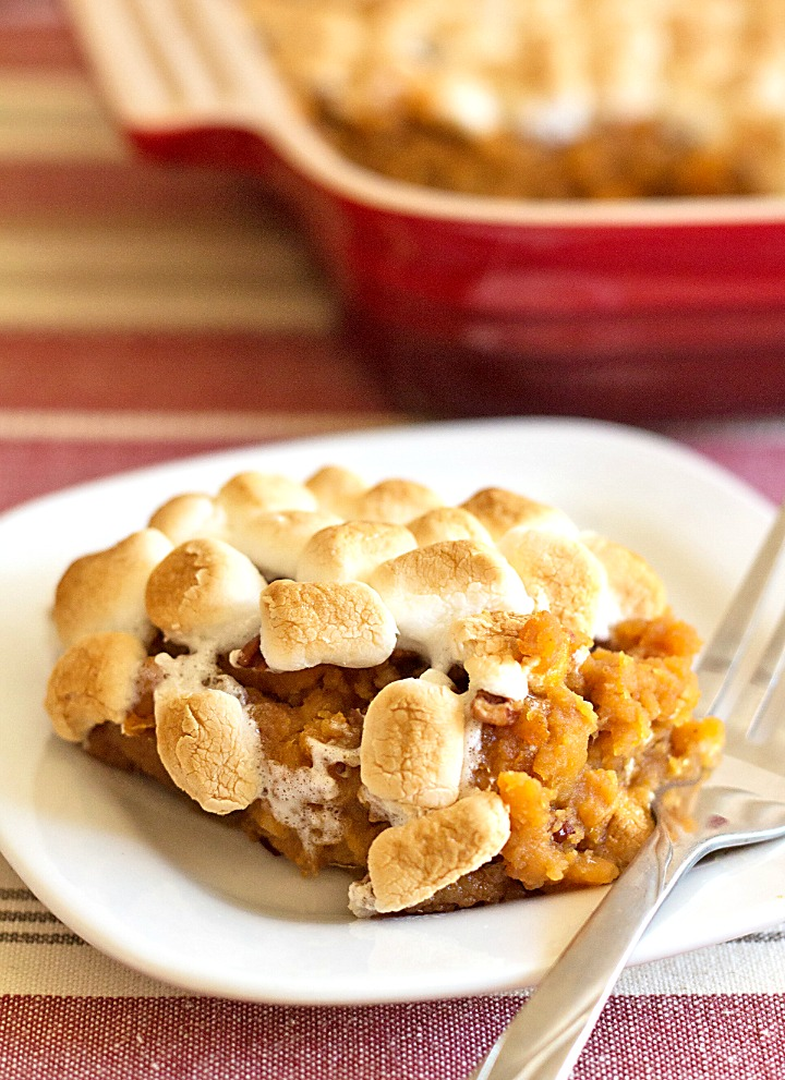 Canned Sweet Potato Casserole With Marshmallows Its Yummi