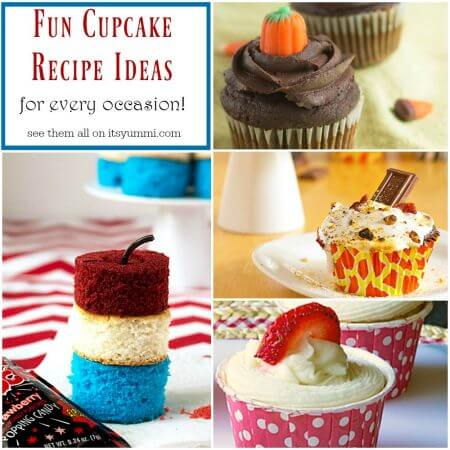 Fun Cupcake Recipe Ideas - Easy cupcake recipe ideas for every occasion! See them all on itsyummi.com