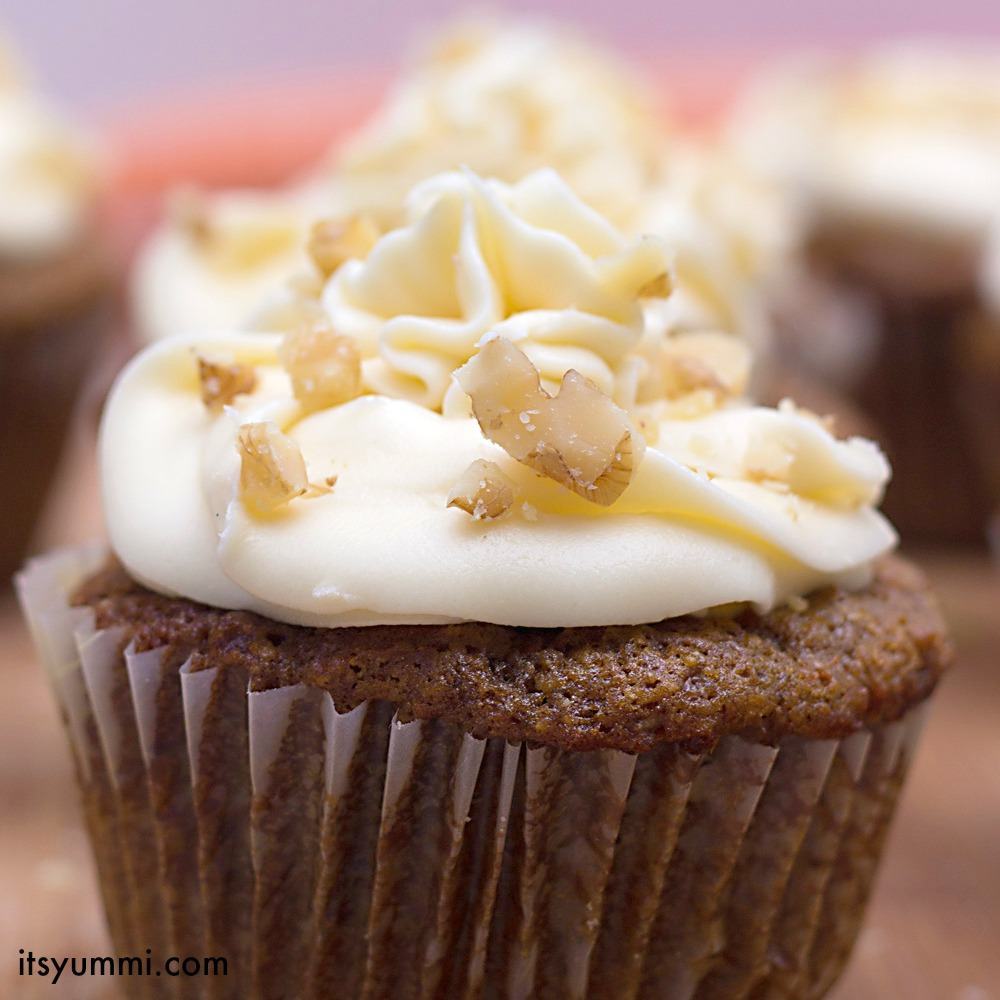 Cupcake Recipe: Carrot Cake w Maple Cream Cheese Frosting